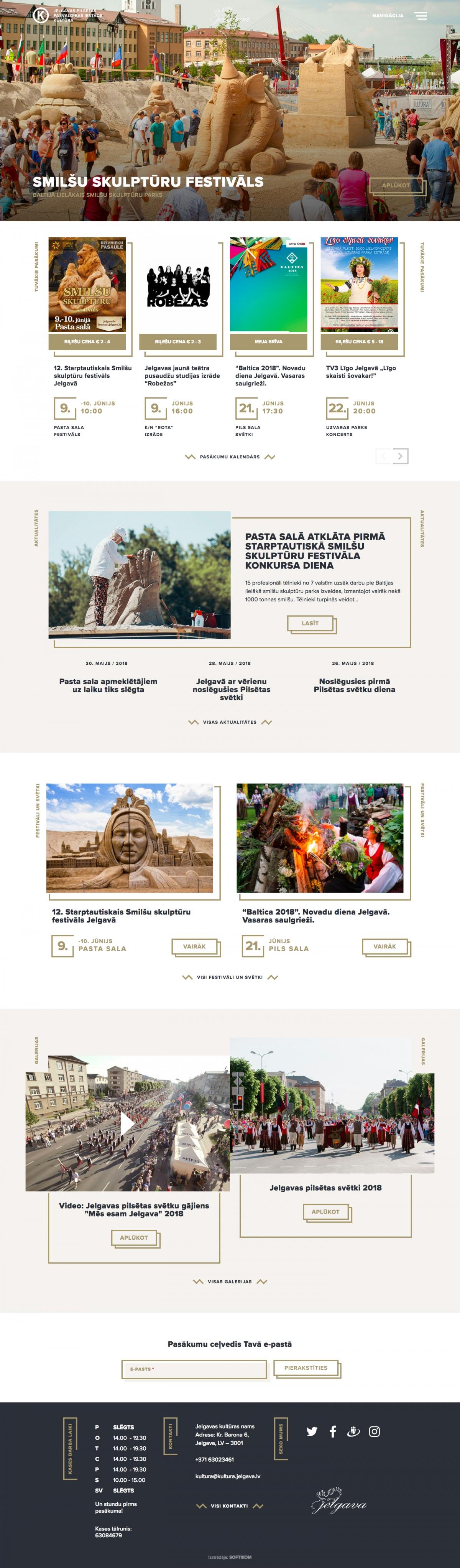 Kultūra Jelgavā mājas lapa