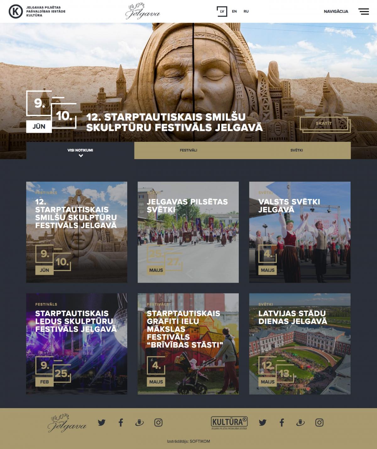 Festivāli Jelgavā mājas lapa