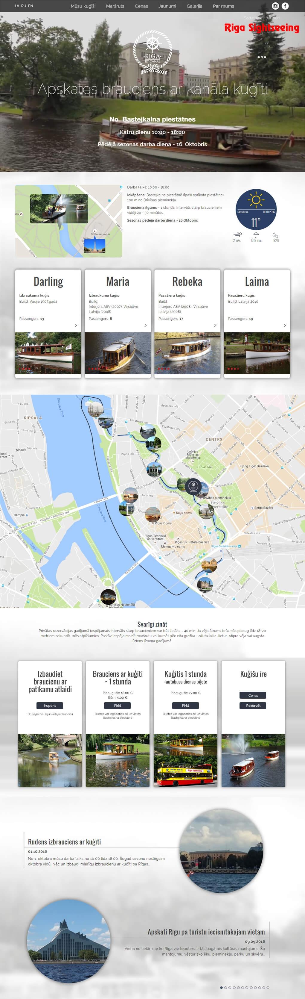 Riga by canal mājas lapa